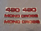 swingarm decal set YZ490 1984