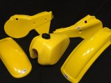 1980-81 Yamaha YZ 250/465 Plastic Fender kit and tank in Yellow