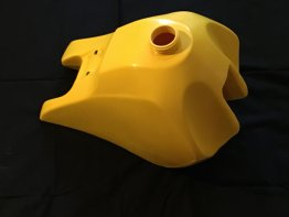 Yamaha YZ490 fuel tank 1984-85 yellow