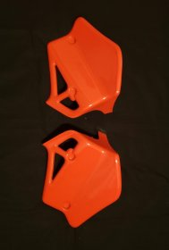 1983 CR125 set radiator scoop orange