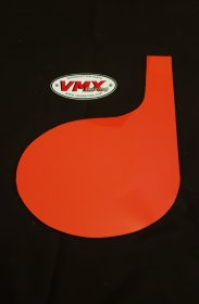 XR75-80 DG Number Plate red