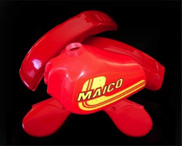 1981 Maico 250 490 Plastic Kit incl. VMXracing Tank and Tank Decals [ clone ]